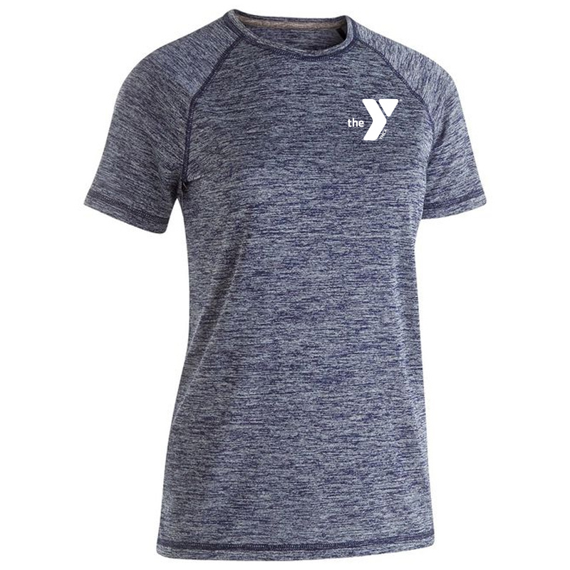 Y Ladies Electrify 2.0 Short Sleeve Shirt - Navy