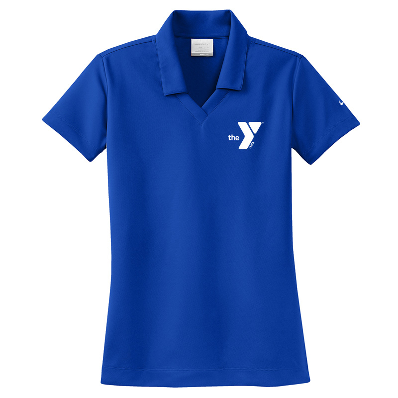 Y Nike Ladies Dri-FIT Micro Pique Polo - Bluesapphire