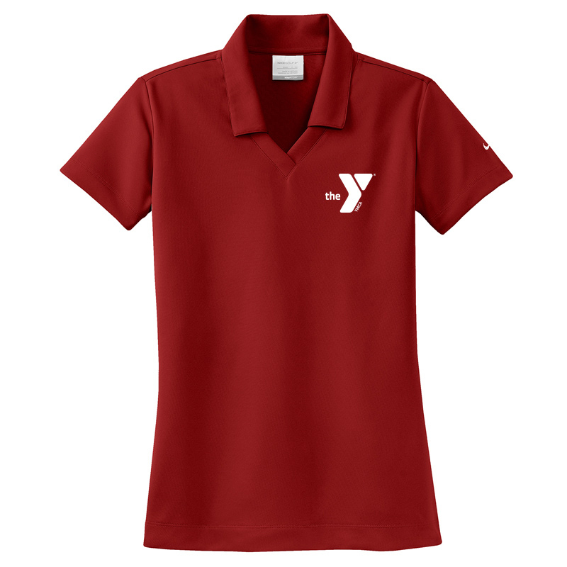 Y Nike Ladies Dri-FIT Micro Pique Polo - Varsityred