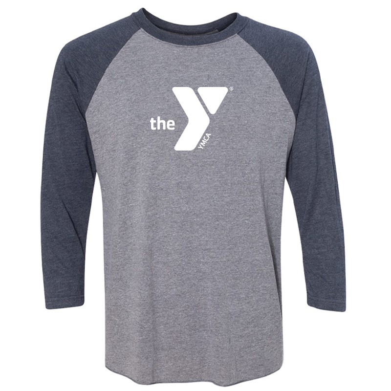 Y Unisex Triblend Three-Quarter Sleeve Raglan - Navyheather