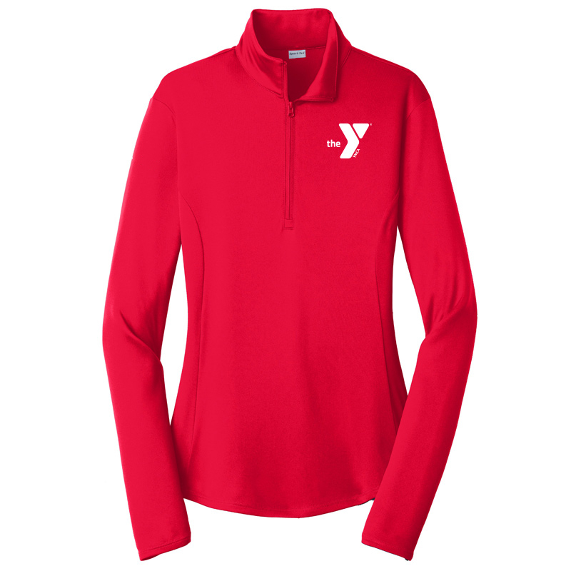 Y Ladies  Competitor 1/4-Zip Pullover - Red