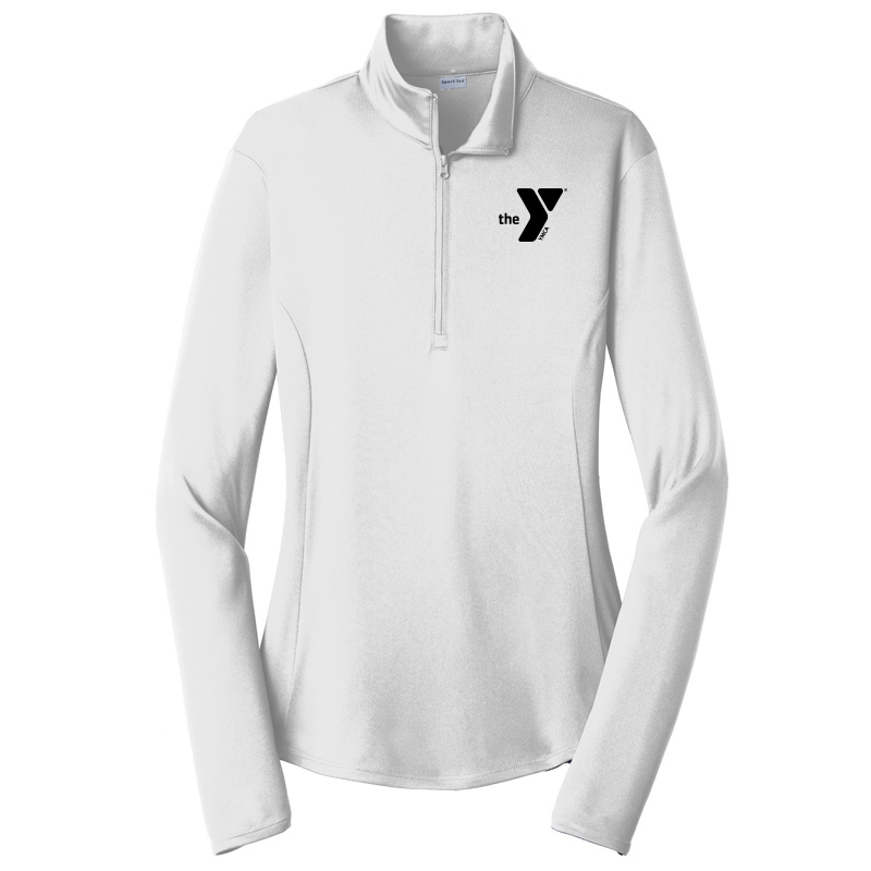 Y Ladies  Competitor 1/4-Zip Pullover - White