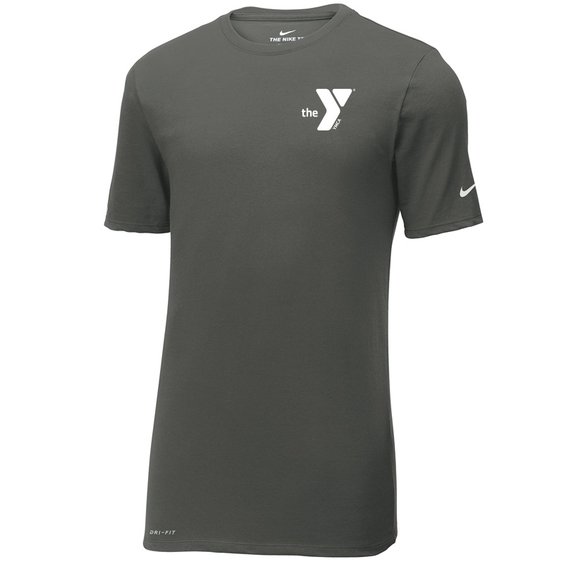 Y Nike Dri-FIT Cotton/Poly Tee - Anthracite