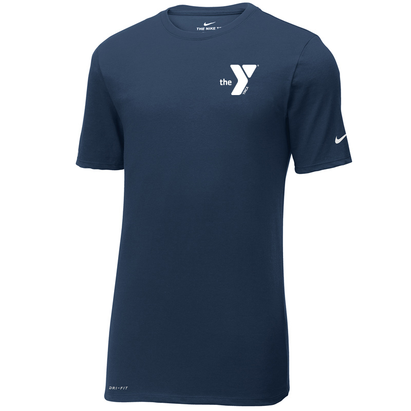 Y Nike Dri-FIT Cotton/Poly Tee - Navy