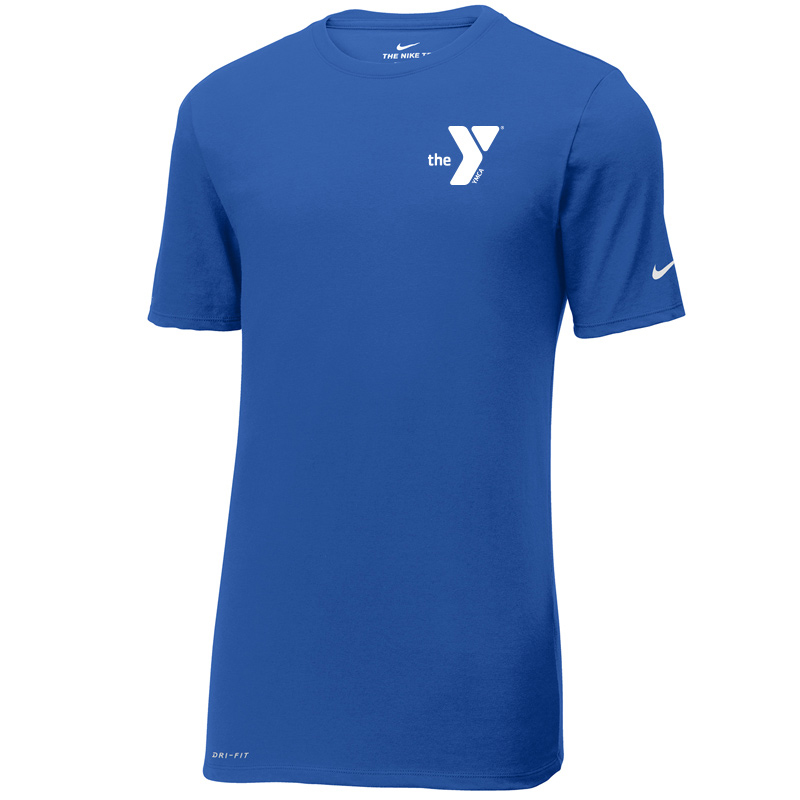 Y Nike Dri-FIT Cotton/Poly Tee - Rushblue