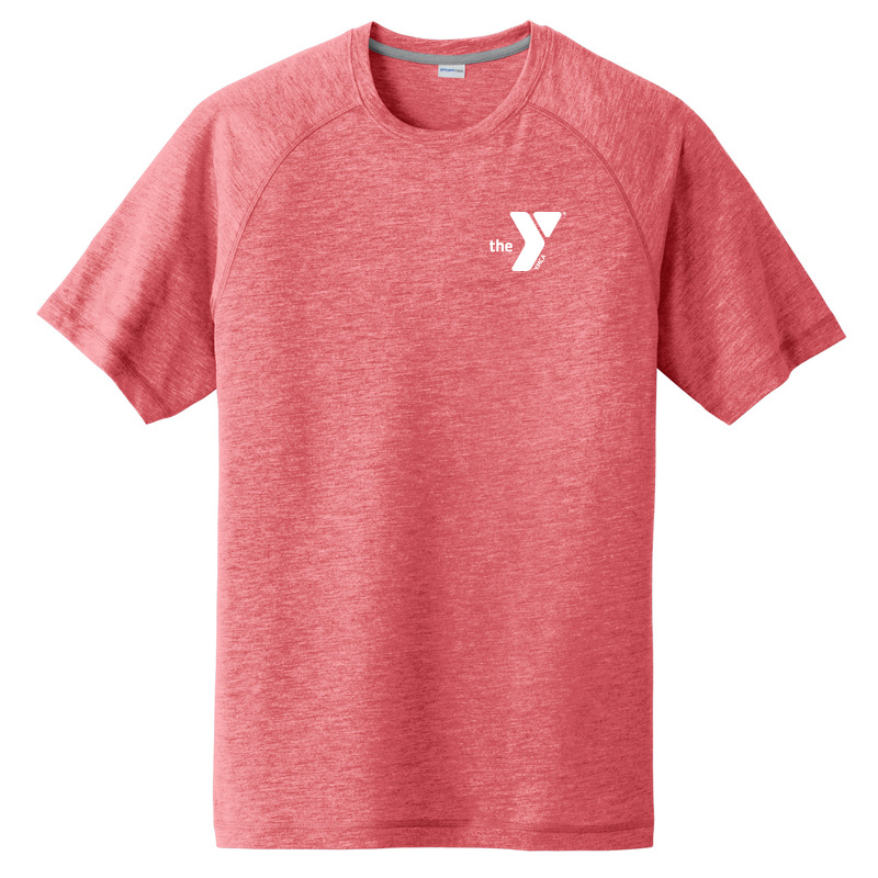 Y Tri-Blend Wicking Raglan Tee - Red