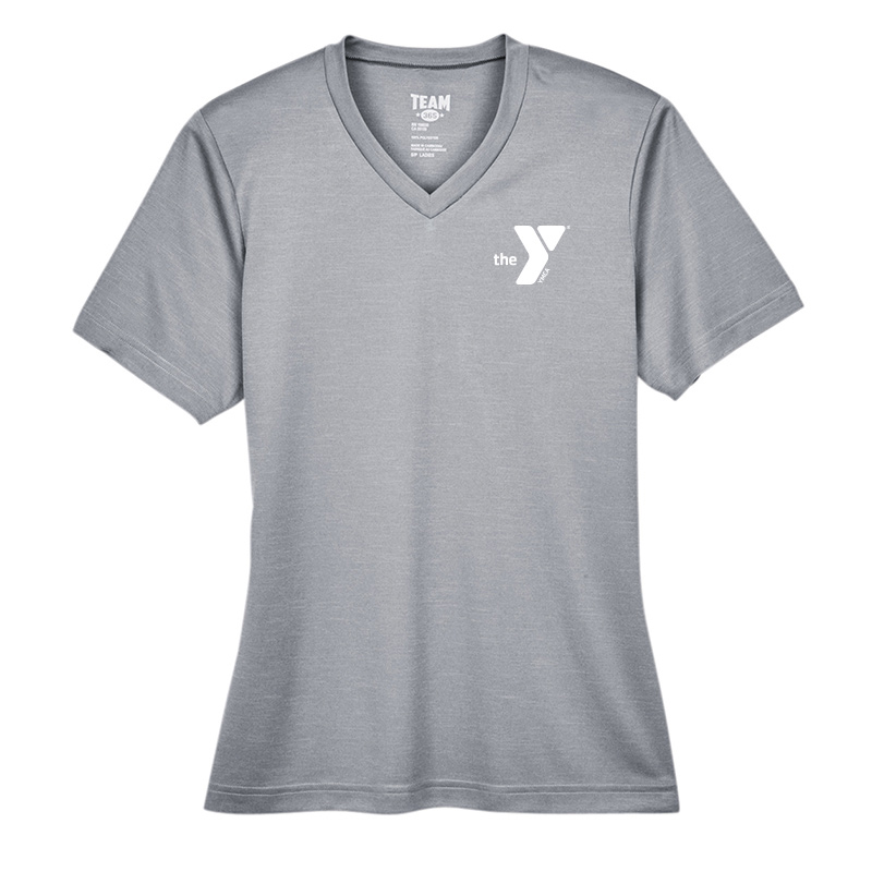 Y Ladies Sonic Heather Performance T-Shirt - Athheather