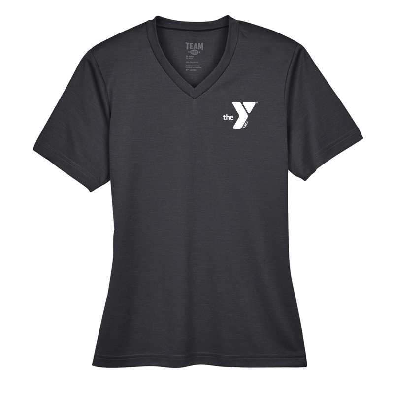 Y Ladies Sonic Heather Performance T-Shirt - Black