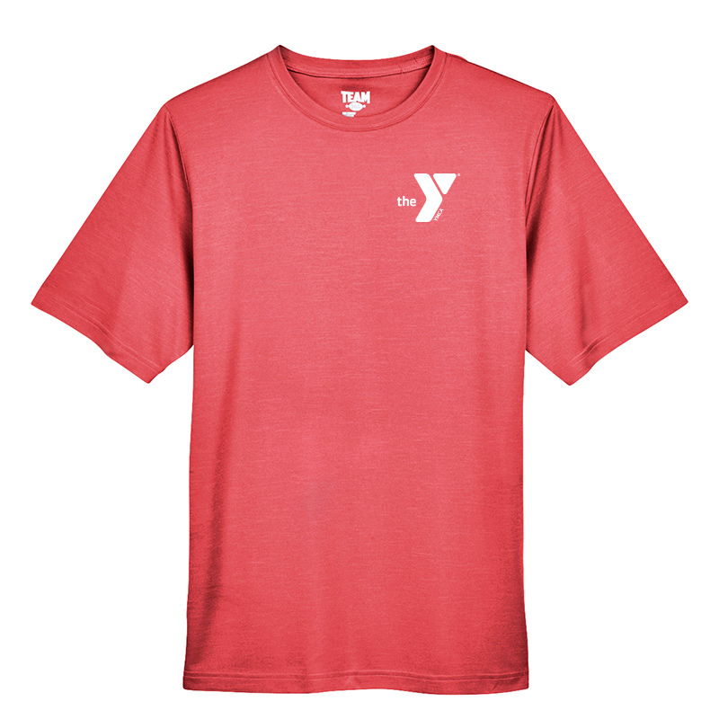 Y Men's Sonic Heather Performance T-Shirt - Red