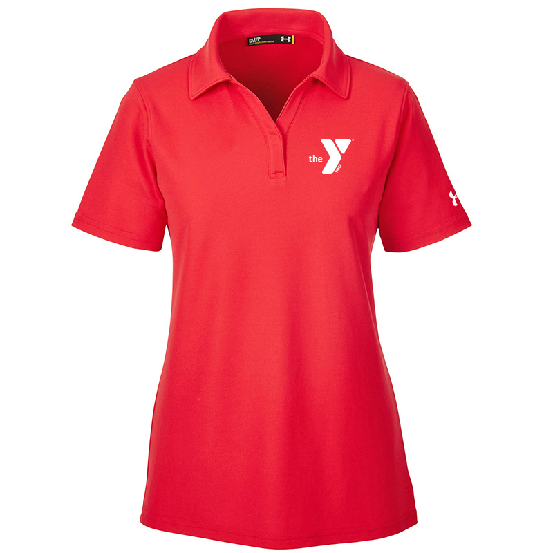 Y  Under Armour Ladies' Corp Performance Polo - Red